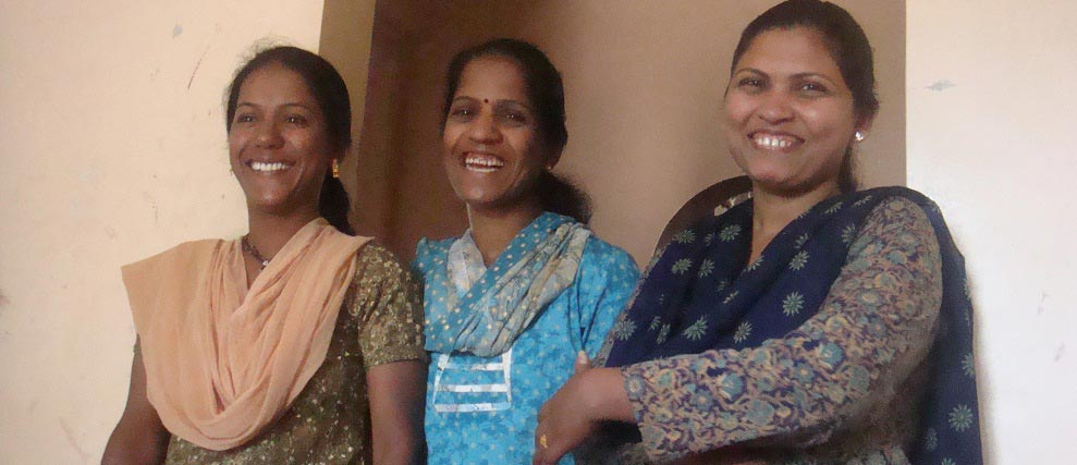 House mothers in Happy moment